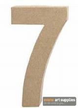 Papier Mache Large Number 7