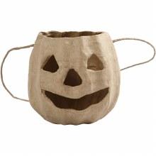 Papier Mache Pumpkin Head