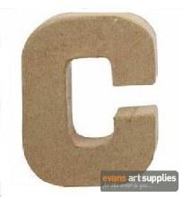 Papier Mache Small Letter C