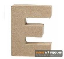 Papier Mache Small Letter E