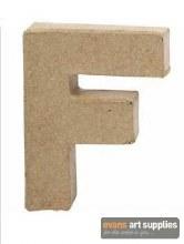 Papier Mache Small Letter F