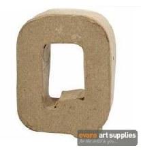 Papier Mache Small Letter Q