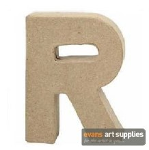 Papier Mache Small Letter R