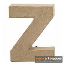 Papier Mache Small Letter Z