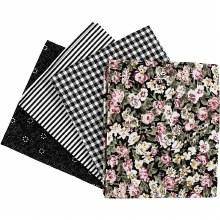 Patchwork Fabric Ass Black