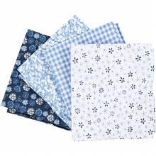 Patchwork Fabric Ass Blue
