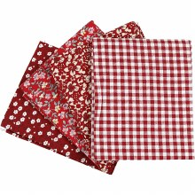 Patchwork Fabric Ass Red