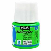 Pebeo Setacolor Light Fabrics - Fluorescent Green 45ml