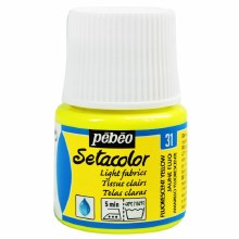 Pebeo Setacolor Light Fabrics - Fluorescent Yellow 45ml