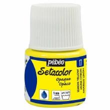 Pebeo Setacolor Opaque Matt - Lemon Yellow 45ml