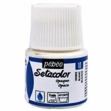 Pebeo Setacolor Opaque Matt - White 45ml