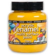 Polyvine 100ml Enamel Paint Yellow