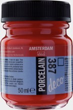 Amsterdam Deco Porcelain 387 Bright Red 50ml