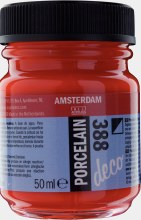 Amsterdam Deco Porcelain 388 Bright Red Opaque 50ml