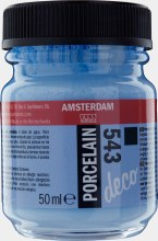 Amsterdam Deco Porcelain 543 Soft Blue Opaque 50ml