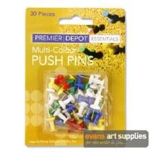 Premier Depot Col PushPins 30s