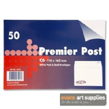 Premier Post C6 White Envelop