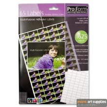 Pro:Form Label 65 labels