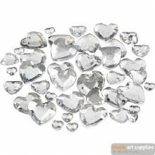 Rhinestones Hearts Silver 252s