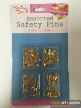 Safety Pins 80 Gold