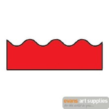 Scalloped Border Red
