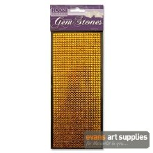 Self Adhesive Gold Gem Stones