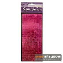 Self Adhesive Pink Gem Stones