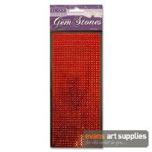 Self Adhesive Red Gem Stones