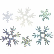 Sequin Snowflakes 30g