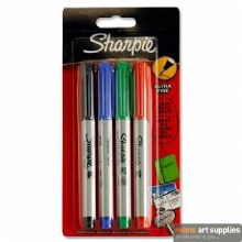 Sharpie Ultra Fine 4 Assorted