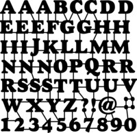 Silhouette Stencil ABC/Nos
