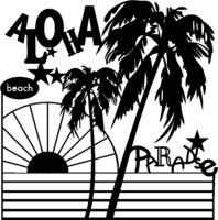 Silhouette Stencil Aloha Parad