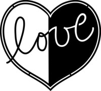 Silhouette Stencil Med Love
