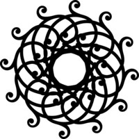 Silhouette Stencil Med Mandala
