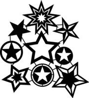 Silhouette Stencil Star Collec