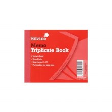 Silvine 607 TriplicateBook 4x5