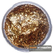 Snaz 12ml Glitter Gel Red Gold