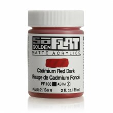 Golden SoFlat 59ml Cadmium Red Dark