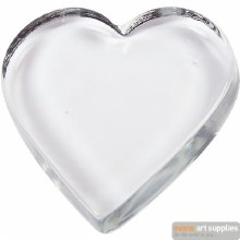 Solid Glass Heart