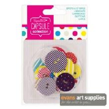 Spots&Stripe CardButton Bright