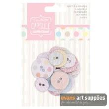 Spots&Stripe CardButton Pastel