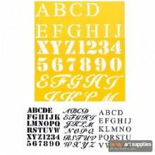 """Stencil 3pk 7x10"""" Three Fonts"""