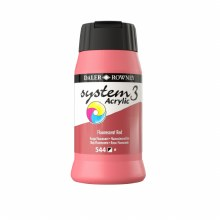 Daler-Rowney System3 500ml Fluorescent Red
