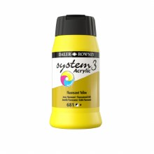 Daler-Rowney System3 500ml Fluorescent Yellow