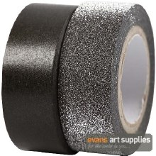 Washi Tape Black 2 ass