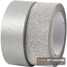 Washi Tape Silver 2 ass