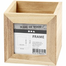 Wooden Pencil Holder w/Frame