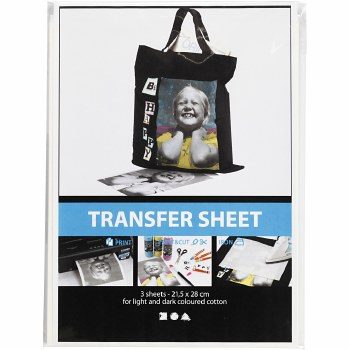 Transfer Sheet Dark Textiles