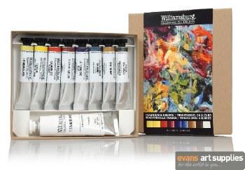 Williamsburg Oil Colour Set - Traditional Colour 8x11ml + 37ml
