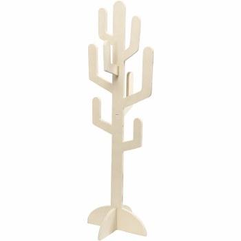 Wooden Cactus Shape Large